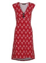 Pin-Up Dress Red Anchor