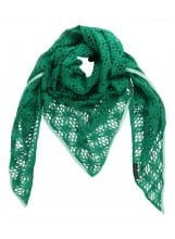 MANIA Oversize scarf lace green mint