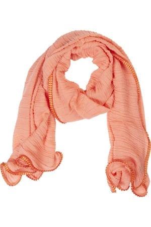 MANIA Tørklæde Pliss total peach
