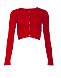 Audrey cardigan short, red