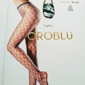 Oroblu Fishnet knot tights BLACK