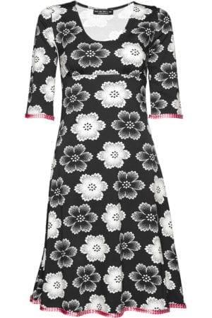 Stella Dress Noir Fleur