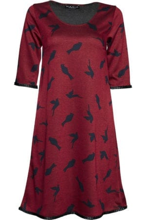 Alice Bordeaux bird, black