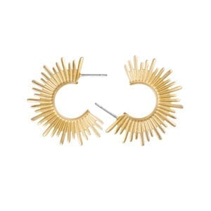 Sun Earrings gold