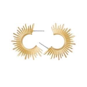 Sun Earrings gold