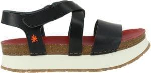 ART Plataeu sandal MOJAVE vachetta black/red