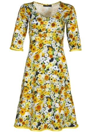 Stella Dress yellow daisy