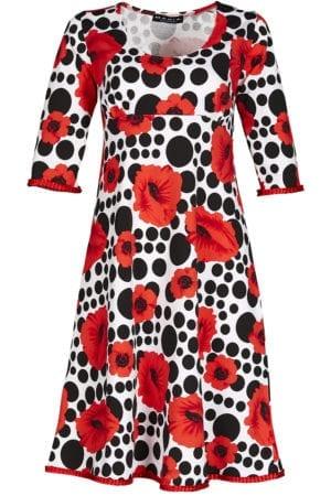 Yvette Dress poppy