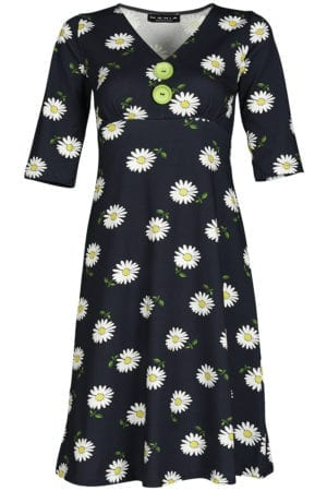 Bibbi Dress Big daisy navy
