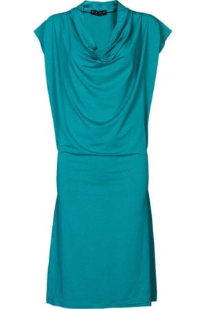 Mona Draped Dress turqouise