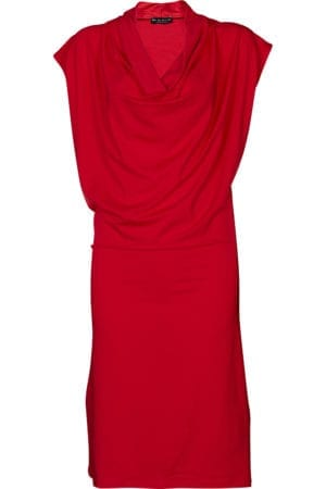 Mona Draped Dress Red