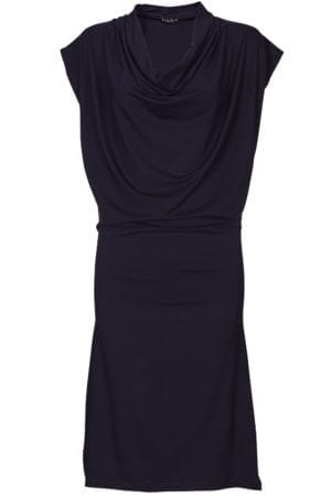 Mona Draped Dress Aubergine