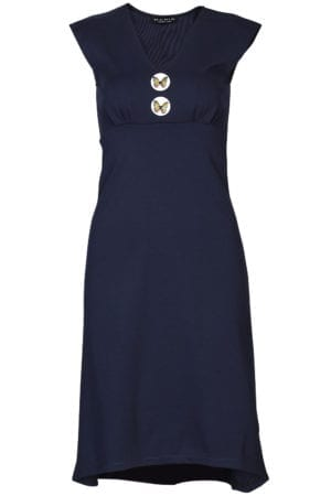 Pin-Up Dress Navy butterfly