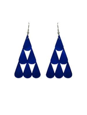 Tearpile-earring Mirror blue