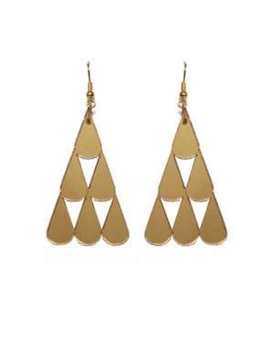 Tearpile-earring Mirror gold