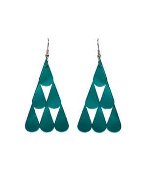 Tearpile-earring Mirror jade