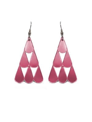 Tearpile-earring Mirror pink