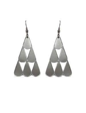 Tearpile-earring Mirror silver