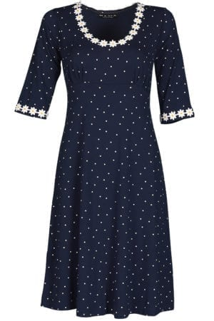 Yvonne dress small dot , navy
