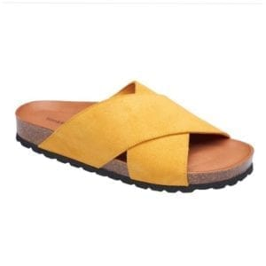 Annet sandal soft suede yellow