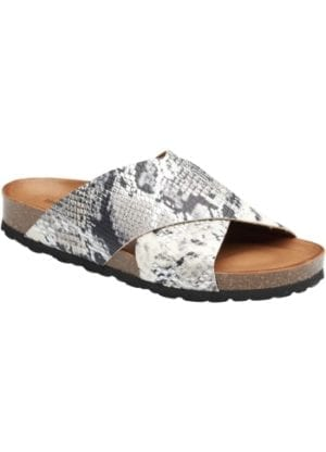 Annet sandal silver snake leather