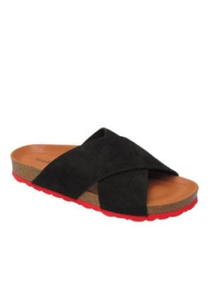 Annet sandal soft suede black