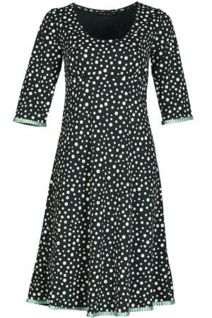 Yvette Dress Mixed Dots, Dark green