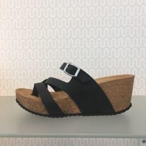 Ella sandal black nubuck