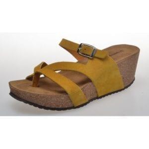 Ella sandal yellow suede