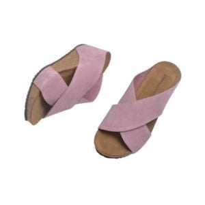 Franches sandal Rose suede