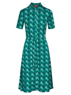 WTG Stef Marion Dress, Green