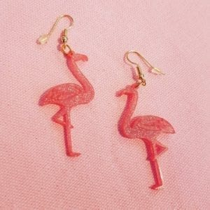 Flamingo øreringe
