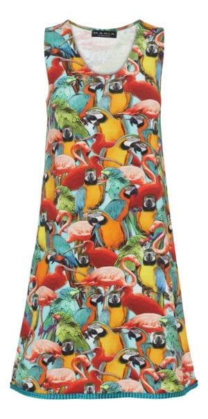 Alice  dress parrots