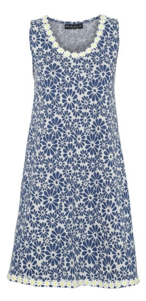 Alice Dress Retro Flower Navy