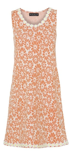 Alice Dress Retro Flower orange