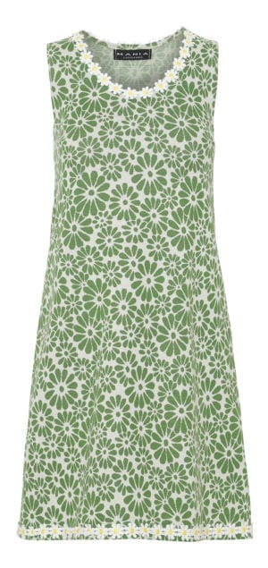 Alice Dress Retro Flower green