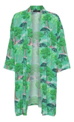 MANIA Copenhagen Kimono green trees