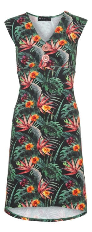 Pin-Up Dress Palm flower