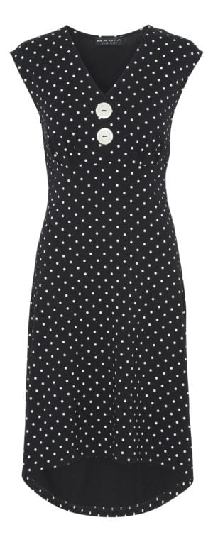 Pin-Up Dress black dot , white U/Æ