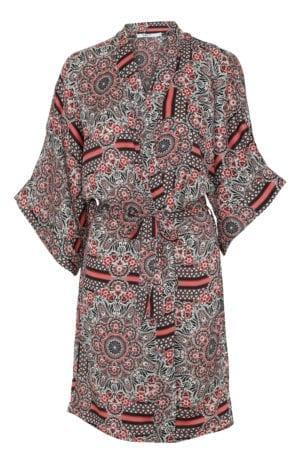 Sille kimono red black