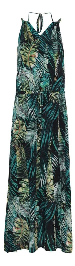 Palm maxidress, green