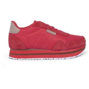 Nora ll Sneakers Plateau Ribbon Red