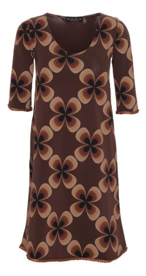 Alice dress maxi flower brown