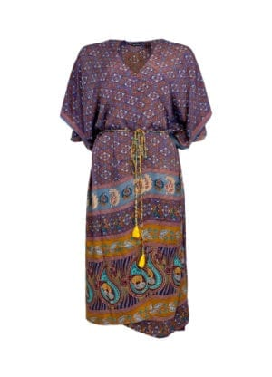 LUNA kimono dress fall royale