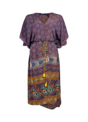 LUNA kimono dress fall royale