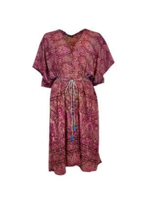 LUNA kimono dress sangria pink