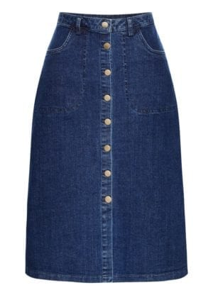 Skirt-Dance A long denim skirt
