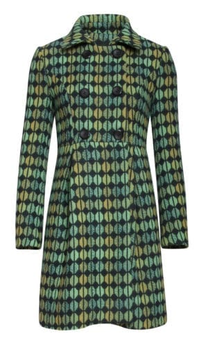 Smashed lemon Coat retro green