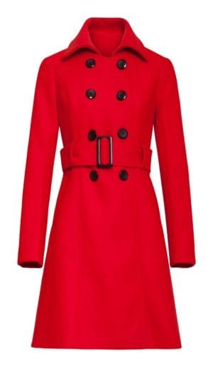 Smashed lemon Coat Audrey red