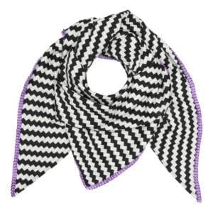 Tørklæde Tiles purple satin
